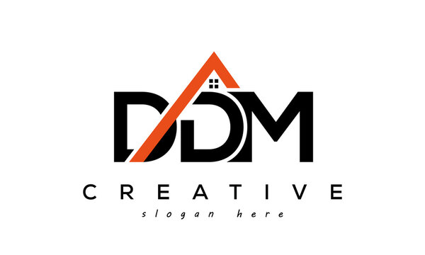 initial DDM letters real estate construction logo vector