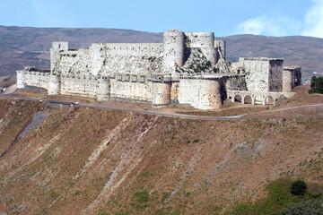 Fototapeta Crac ou Krak des Chevaliers (Qal'at Al Hosn) Les Hospitaliers de l'ordre de Saint-Jean de Jérusalem 13 S. Syrie obraz