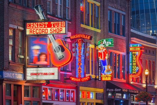 Lower Broadway, Nashville, TN, USA