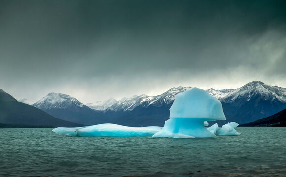 South America. Argentina.  Santa Cruz Province. Patagonia. .Glaciers National Park (Parque Nacional de los Glaciars).Iceberg from glacier Perito Moreno on Lake Argentino..Photo: ANGELO CAVALLI