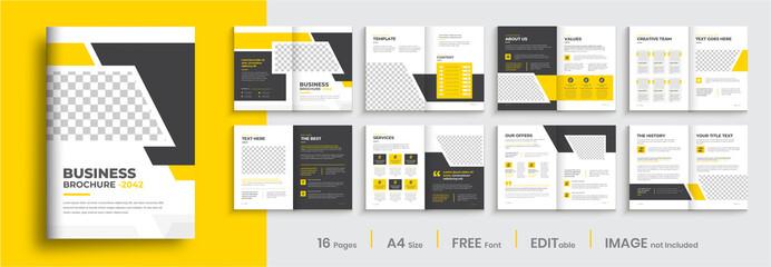 Fototapeta Business brochure template layout design, minimal multipage creative brochure template design, annual report, corporate company profile, editable template layout. obraz