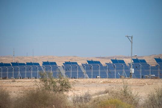 Solar panel renewable eco energy field. High quality photo