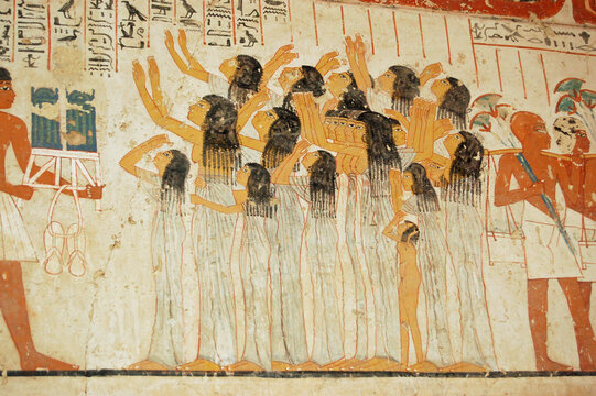 Mourning Women, Ancient Egyptian tomb, Luxor