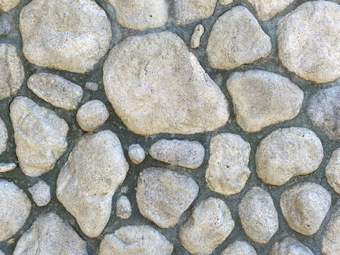 stone rock wall surface exterior interior building facade with natural grout shot as architectural scene