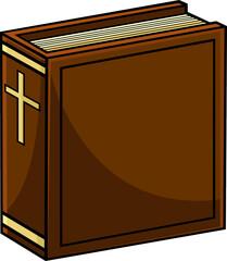 Fototapeta Cartoon Holy Bible Book. Vector Hand Drawn Illustration Isolated On Transparent Background obraz