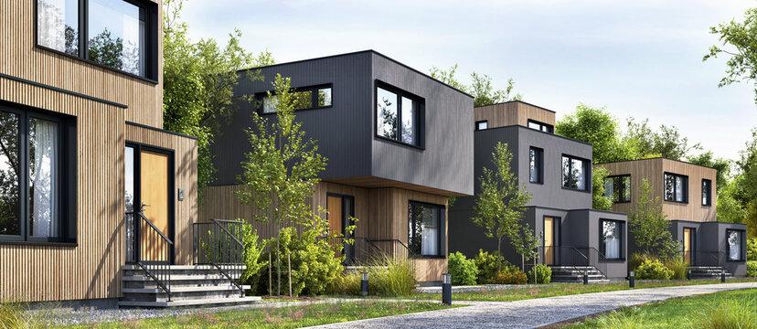 Modular homes exterior designs of modern architecture