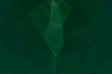 Obraz Abstract green vivid wallpaper mosaic background. Geometric triangle - fototapety do salonu