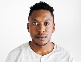 African ethnicity man portrait shoot in a studio - fototapety na wymiar
