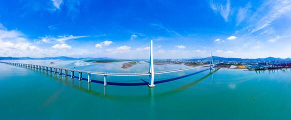 Bay scenery of Xiazhang bridge in Fujian Province, China