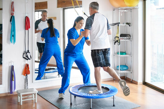 Healthcare: physiotherapy patient