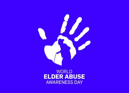 World Elder abuse awareness day concept vector illustration.