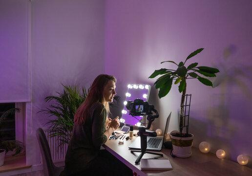 Makeup Artist Filming Her Class