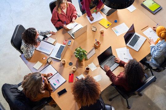 Business women having meeting