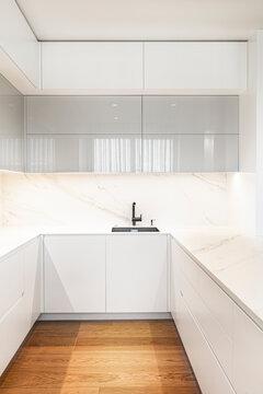 Contemporary minimalist interior