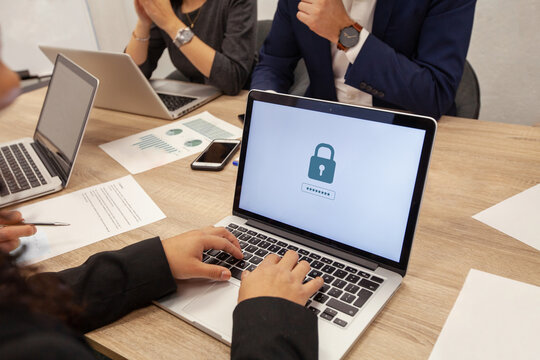 data protection and internet security concept, cybersecurity