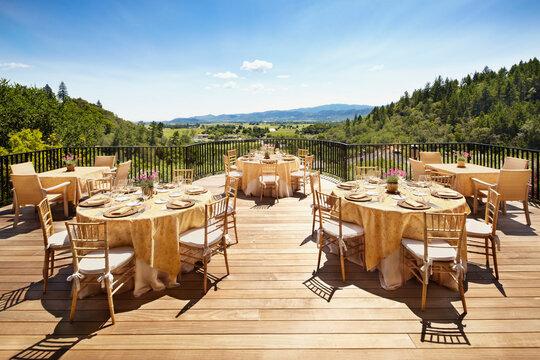 Wedding reception at luxury resort