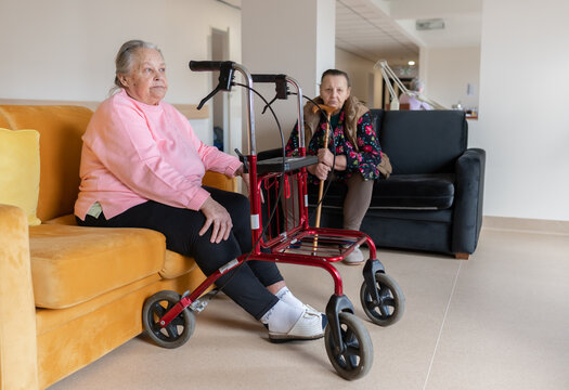 Two Old Woman At Adult Foster Care