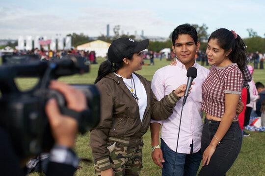 Interview: TV Journalist interviewing