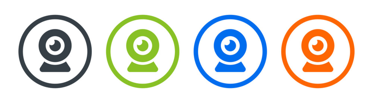 Webcam icon, web camera for video chat vector icon