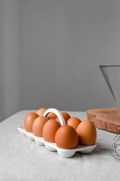 Fresh farmer eggs