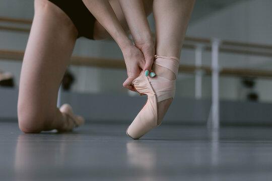 Ballerina wearing pointes