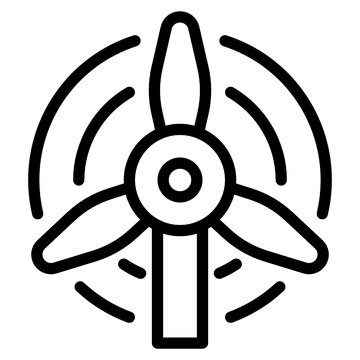 wind outline style icon