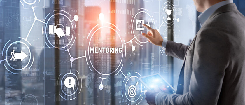 Mentoring Motivation Coaching Career Business Technology concept