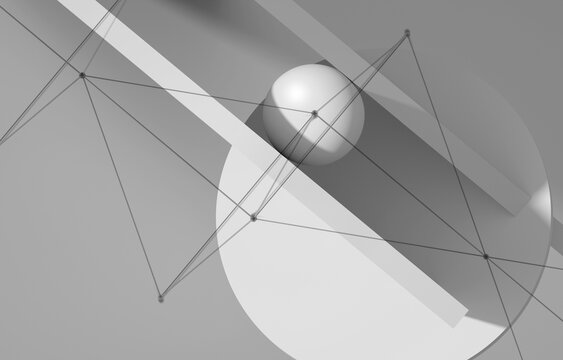 Abstract minimal white background 3d