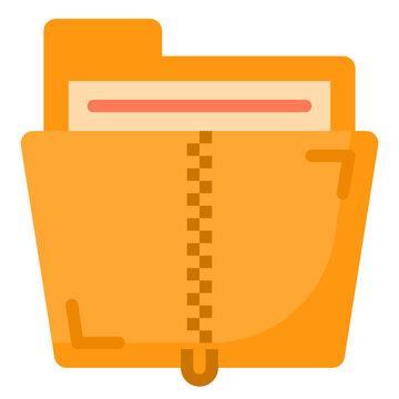 zip flat style icon