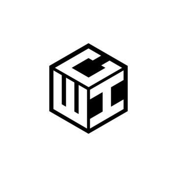 WIC letter logo design with white background in illustrator, vector logo modern alphabet font overlap style. calligraphy designs for logo, Poster, Invitation, etc.