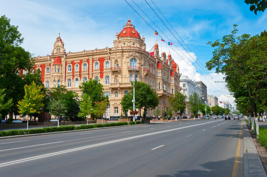 Rostov-on-Don, City Administration (City Hall) and st. Bolshaya Sadovaya.  June 13, 2021.