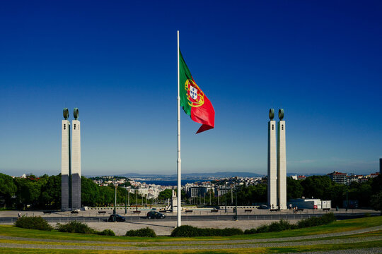 Portugal Flag in Lisbon Title Photo