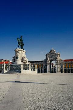 Praca do comercio, tourist place in Lisbon, Portugal