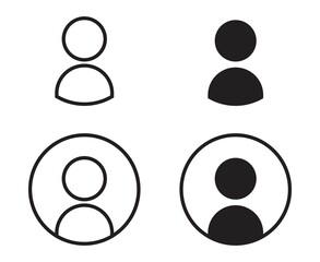 Fototapeta User icon set. profile avatar. persons symbol isolated on white background. vector illustration. obraz