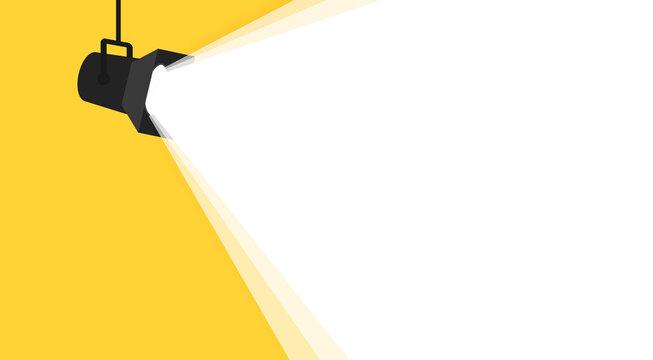 Banner spotlight background. Vector illustration