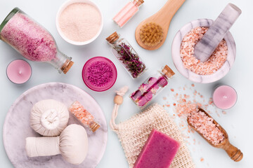 Obraz Spa homemade skin care and body cosmetics with natural ingredients. - fototapety do salonu