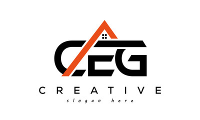 Obraz CEG letters real estate construction logo vector - fototapety do salonu