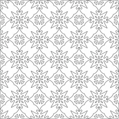 vector pattern with triangular elements. Geometric ornament for wallpapers and backgrounds. Black and white pattern.