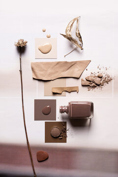 Colour Palette Inspired by Nature in Warm Taupe
