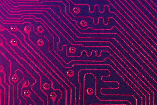 Future neon circuit board