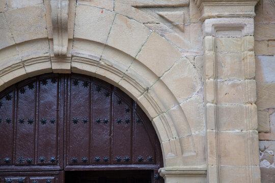 Door of Saint Christopher Church, Comillas, Cantabria