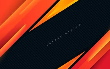 Orange overlap layers modern abstract background