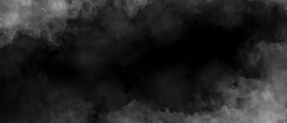 Fototapeta Gray smoke on black color abstract watercolor background obraz