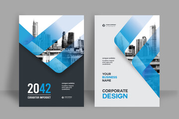 Fototapeta City Background Business Book Cover Design Template obraz