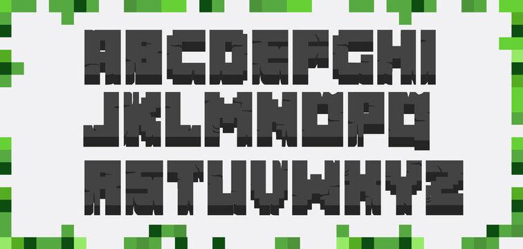 vector alphabet blocks 3D