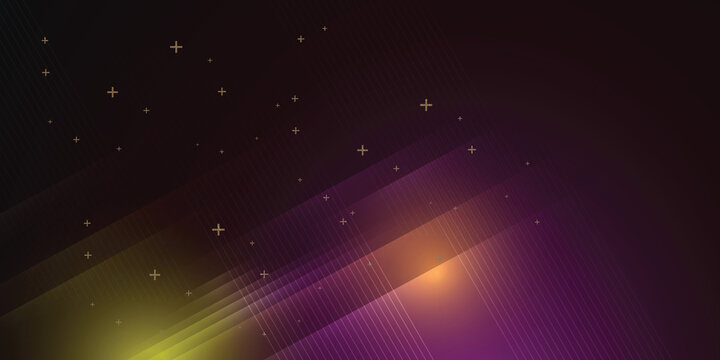 Dark background in vector illustration with glow and lights.