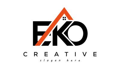 EKO letters real estate construction logo vector
