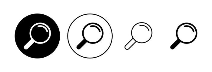 Fototapeta Search icon set. search magnifying glass icon obraz