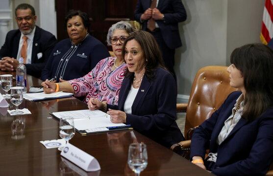 U.S. Vice President Kamala Harris hosts Texas legislators at the White House