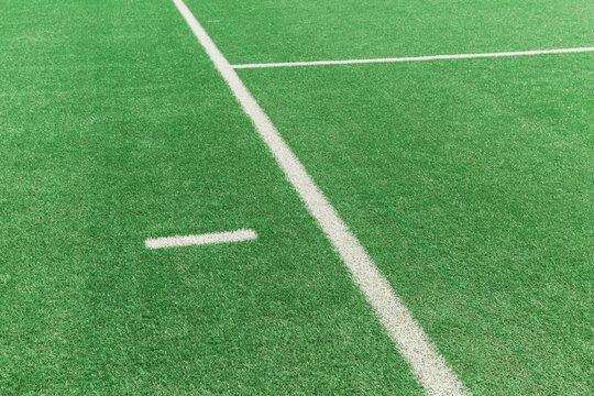 White lines in the stadium